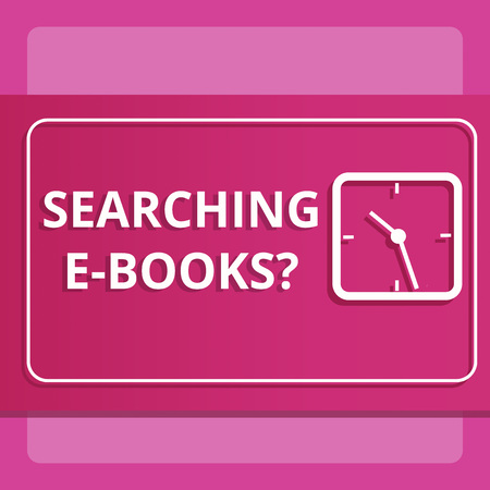 Writing note showing Searching E Booksquestion. Business photo showcasing Looking for online literature modern reading