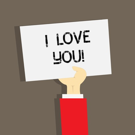Word writing text I Love You. Business concept for Expressing roanalysistic feelings for someone Positive emotion Standard-Bild