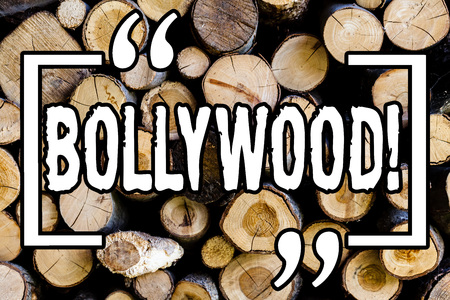 Word writing text Bollywood. Business concept for Indian cinema a source of entertainment among new generation Wooden background vintage wood wild message ideas intentions thoughts