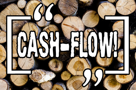 Word writing text Cash Flow. Business concept for Virtual movement of money by company finance department statistics Wooden background vintage wood wild message ideas intentions thoughts