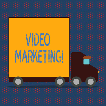 Word writing text Video Marketing. Business concept for Media Advertising Multimedia Promotion Digital Strategy