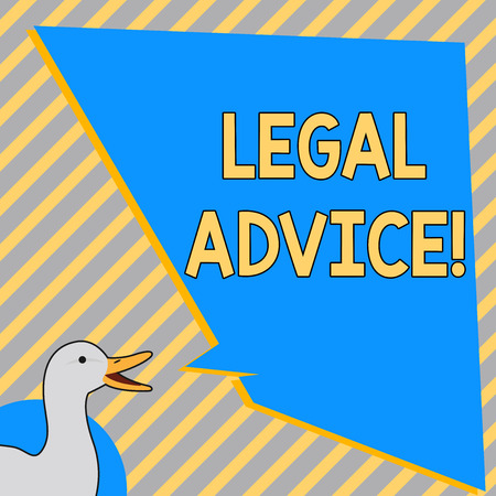 Conceptual hand writing showing Legal Advice. Business photo text Recommendations given by lawyer or law consultant expert Banco de Imagens