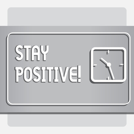 Conceptual hand writing showing Stay Positive. Business photo text Be Optimistic Motivated Good Attitude Inspired Hopeful Stok Fotoğraf - 118029950