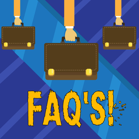 Writing note showing Faq's. Business photo showcasing Multiple questions answered for online product