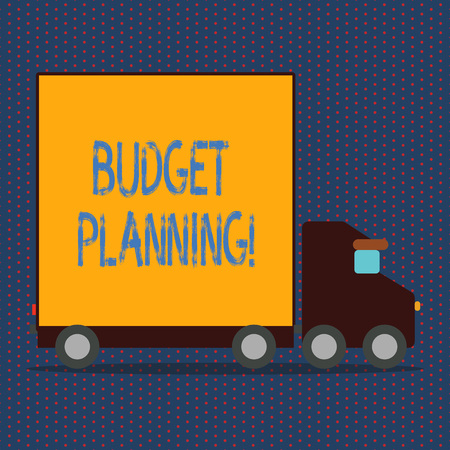 Word writing text Budget Planning. Business concept for Financial Planning Evaluation of earnings and expenses Imagens