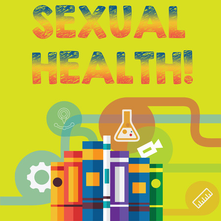 Handwriting text Sexual Health. Concept meaning STD prevention Use Protection Healthy Habits Sex Care