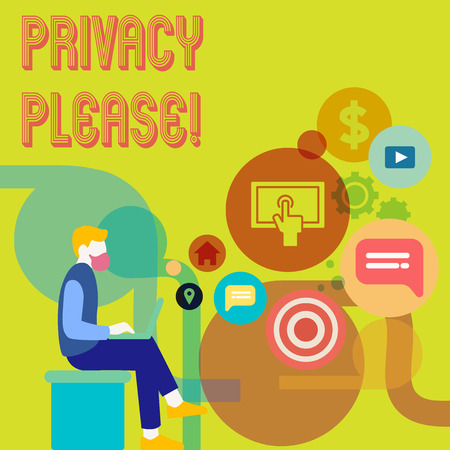 Word writing text Privacy Please. Business concept for Let us Be Quiet Rest Relaxed Do not Disturb Stock fotó - 118027684