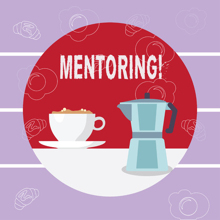 Writing note showing Mentoring. Business photo showcasing To give advice or support to a younger less experienced demonstrating Imagens