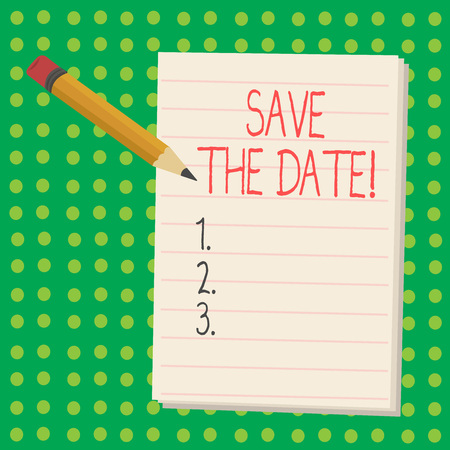 Word writing text Save The Date. Business concept for Remember not to schedule anything else that time Appointment 写真素材