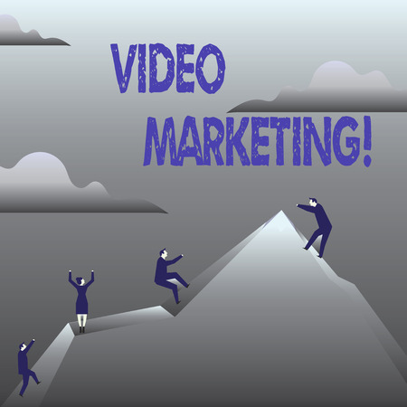 Handwriting text Video Marketing. Concept meaning Media Advertising Multimedia Promotion Digital Strategy