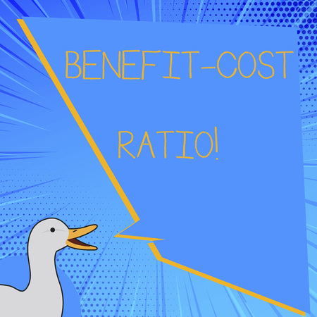 Word writing text Benefit Cost Ratio. Business concept for Relationship between the costs and benefits of project