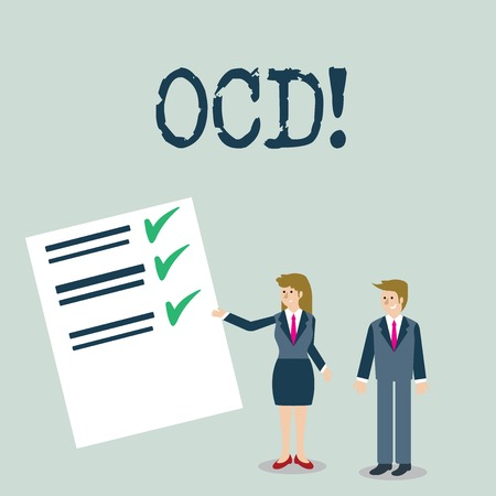 Text sign showing Ocd. Conceptual photo Obsessive Compulsive Disorder Psychological Illness Medical Condition Imagens