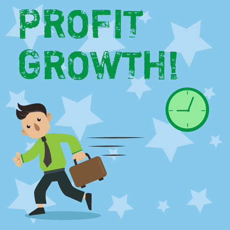 Conceptual hand writing showing Profit Growth. Business photo showcasing Financial Success Increased Revenues Evolution Development