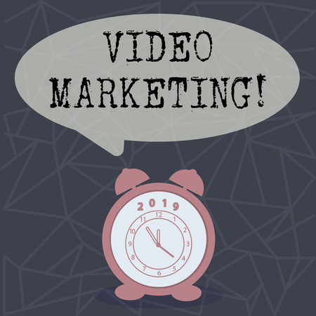 Text sign showing Video Marketing. Conceptual photo Media Advertising Multimedia Promotion Digital Strategy