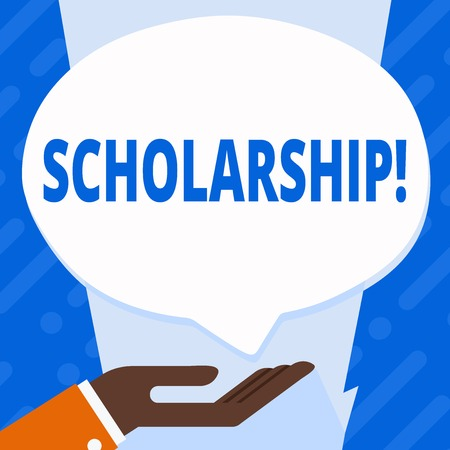 Word writing text Scholarship. Business concept for Grant or Payment made to support education Academic Study