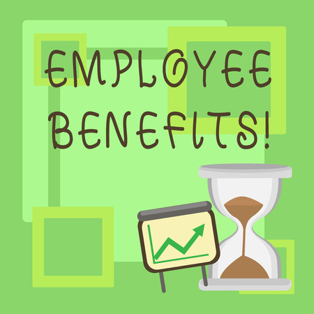 Handwriting text Employee Benefits. Concept meaning list of advantage recruiter get at work Insurance Stock Photo