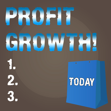 Conceptual hand writing showing Profit Growth. Business photo text Financial Success Increased Revenues Evolution Development Stok Fotoğraf
