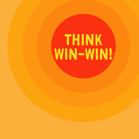 Handwriting text writing Think Win Win. Concept meaning Negotiation strategy for both partners to obtain benefits