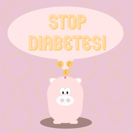 Text sign showing Stop Diabetes. Conceptual photo Take care of your Sugar Levels Healthy Diet Nutrition Habits Stock Photo