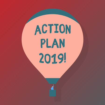 Handwriting text Action Plan 2019. Concept meaning to do list in new year New year resolution goals Targets Reklamní fotografie