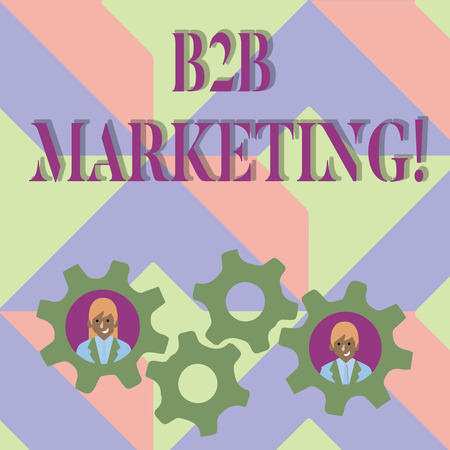 Handwriting text writing B2B Marketing. Concept meaning Business to Business Commercial Transactions Commerce