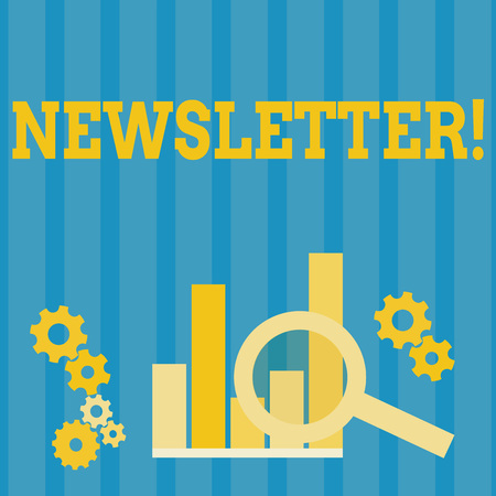 Handwriting text Newsletter. Concept meaning Bulletin periodically sent to members of group