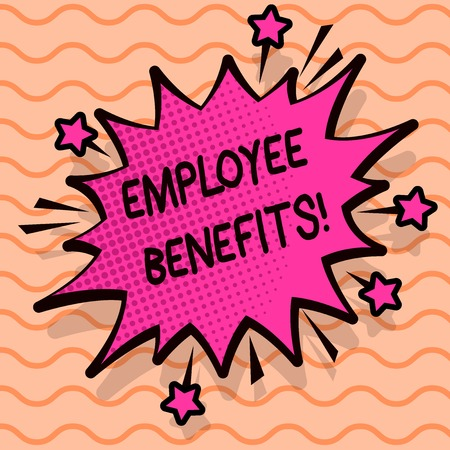 Word writing text Employee Benefits. Business concept for list of advantage recruiter get at work Insurance