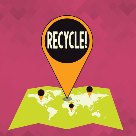 Word writing text Recycle. Business concept for Converting waste into reusable material
