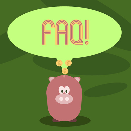 Writing note showing Faq. Business photo showcasing Frequently asked question for clearing up confusions Imagens