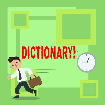 Handwriting text Dictionary. Concept meaning Learning another vocabs and synonyms from book