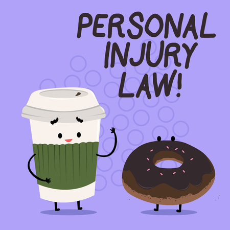 Conceptual hand writing showing Personal Injury Law. Business photo text guarantee your rights in case of hazards or risks
