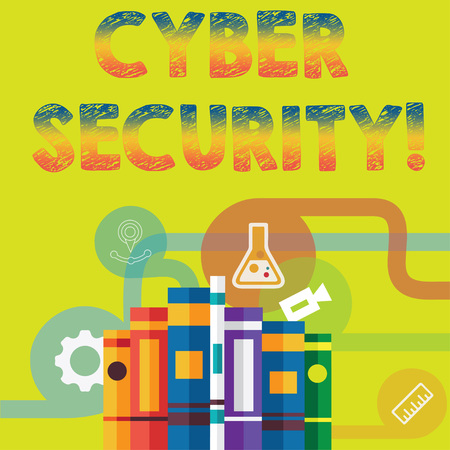 Handwriting text Cyber Security. Concept meaning Online prevention of attacks Viruses Encrypt Information