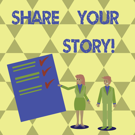 Writing note showing Share Your Story. Business photo showcasing Tell demonstratingal experiences talk about yourself Storytelling