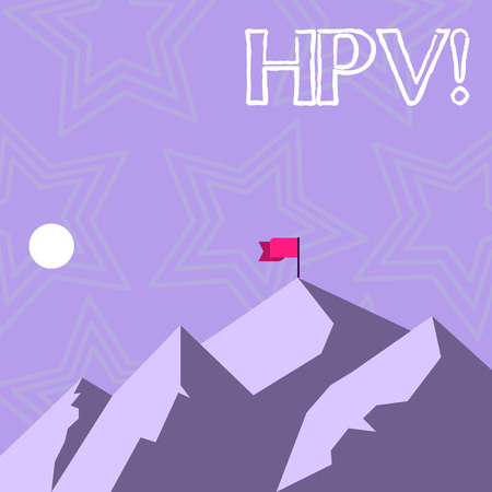 Text sign showing Hpv. Conceptual photo Huanalysis Papillomavirus Infection Sexually Transmitted Disease Illness Stock Photo