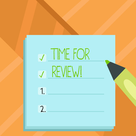 Word writing text Time For Review. Business concept for Evaluation Feedback Moment Perforanalysisce Rate Assess
