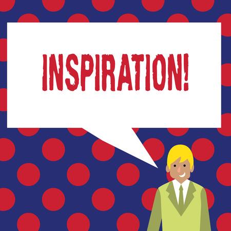 Writing note showing Inspiration. Business photo showcasing Stimulation to feel or do something creative
