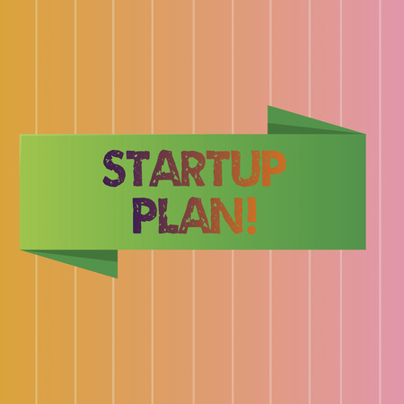 Conceptual hand writing showing Startup Plan. Business photo text Development starting planning for newly emerged companies
