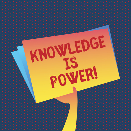 Conceptual hand writing showing Knowledge Is Power. Business photo showcasing learning will give you advantage over others
