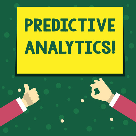 Handwriting text writing Predictive Analytics. Concept meaning Method to forecast Perforanalysisce Statistical Analysis