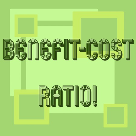 Handwriting text Benefit Cost Ratio. Concept meaning Relationship between the costs and benefits of project