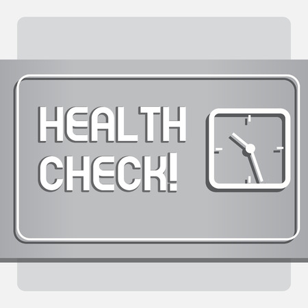 Conceptual hand writing showing Health Check. Business photo text Medical Examination Diagnosis Tests to prevent diseases