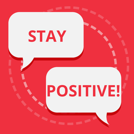 Conceptual hand writing showing Stay Positive. Business photo text Be Optimistic Motivated Good Attitude Inspired Hopeful