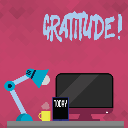 Word writing text Gratitude. Business concept for Quality of being thankful Appreciation Thankfulness Acknowledge