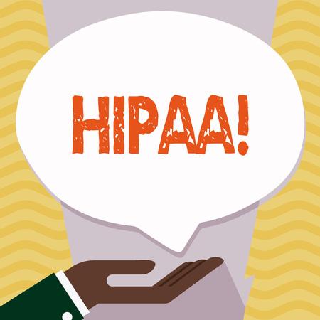 Writing note showing Hipaa. Business photo showcasing Health Insurance Portability and Accountability Act