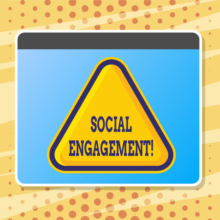 Text sign showing Social Engagement. Conceptual photo post gets high reach Likes Ads SEO Advertising Marketing