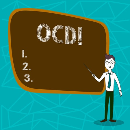 Conceptual hand writing showing Ocd. Business photo showcasing Obsessive Compulsive Disorder Psychological Illness Medical Condition