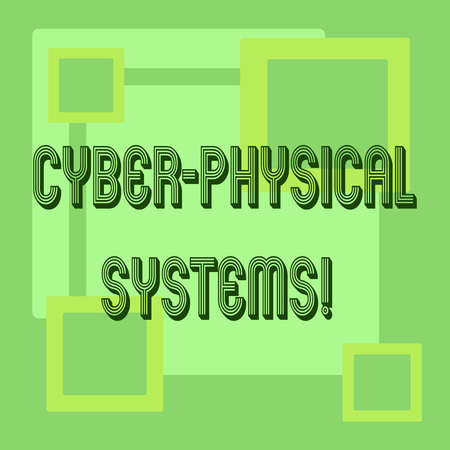 Handwriting text Cyber Physical Systems. Concept meaning Mechanism controlled by computerbased algorithms Stock Photo
