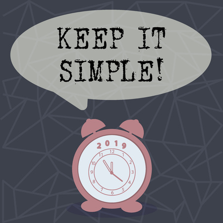 Text sign showing Keep It Simple. Conceptual photo Simplify Things Easy Clear Concise Ideas Imagens