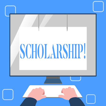 Handwriting text writing Scholarship. Concept meaning Grant or Payment made to support education Academic Study