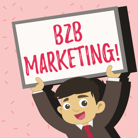 Text sign showing B2B Marketing. Conceptual photo Business to Business Commercial Transactions Commerce Banco de Imagens